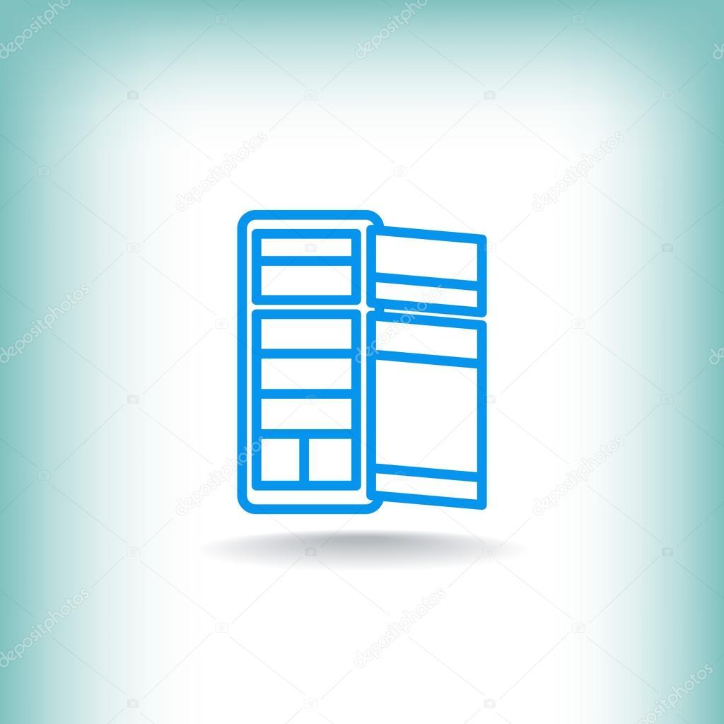 kitchen fridge icon