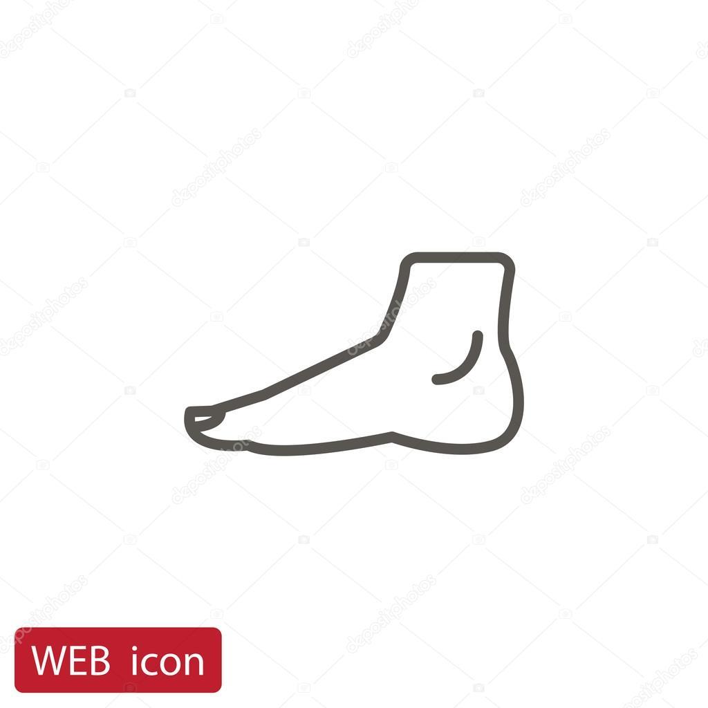 Menschlicher Fuß-Symbol — Stockvektor © Mr.Webicon #115628634