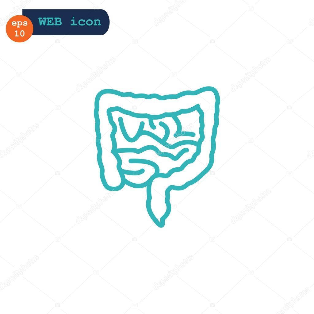 Anatomie darmen pictogram — Stockvector © Mr.Webicon #118794178