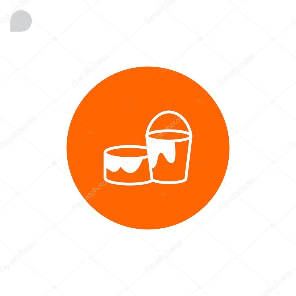 Målarfärg kan och hink ikonen — Stock Vektor © Mr.Webicon  122183082 668e67a0ce3f6