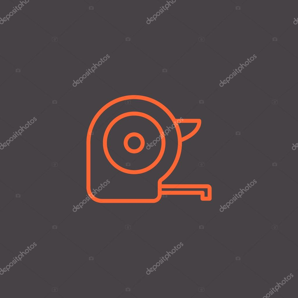 Tape measure tool icon