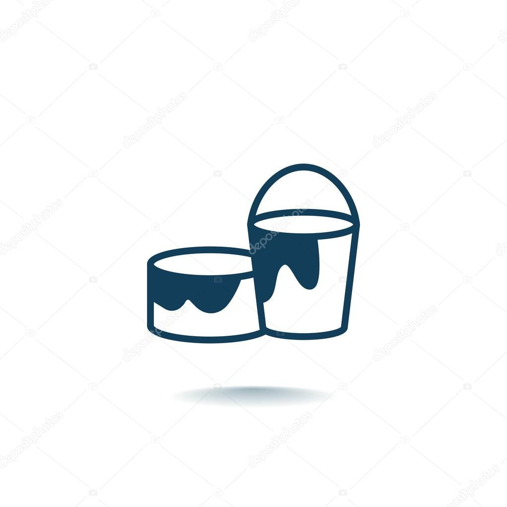 Målarfärg kan och hink ikonen — Stock Vektor © Mr.Webicon  122187336 debf824eef206