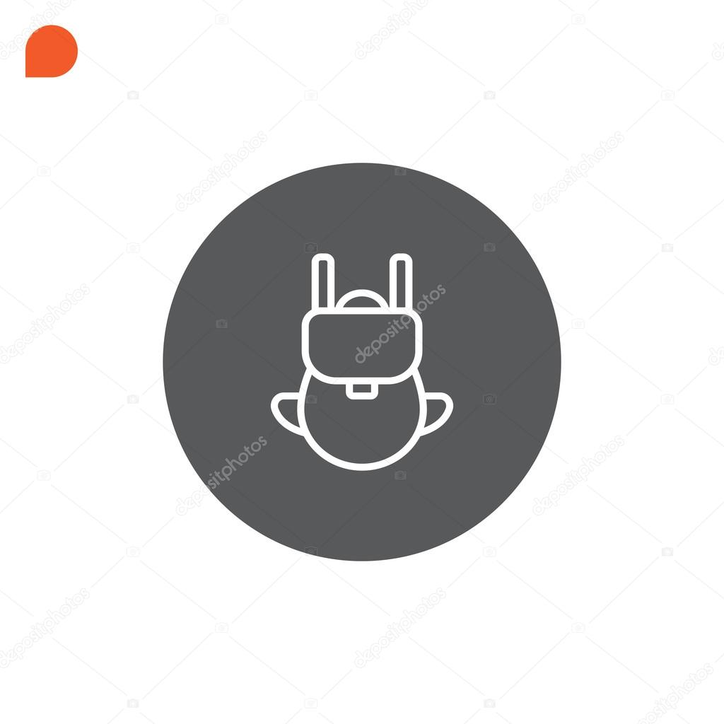 df125f4e3c Icône de sac à dos de randonnée — Image vectorielle Mr.Webicon ...