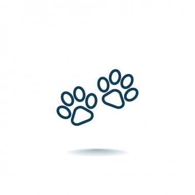 animal paws icon