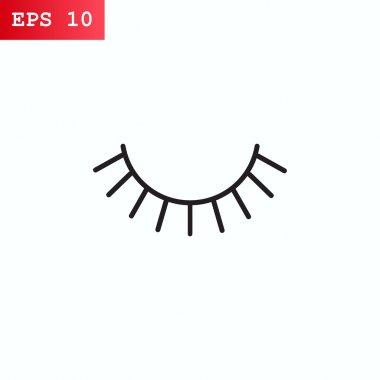 Eyelashes  icon, vector illustration stock vector