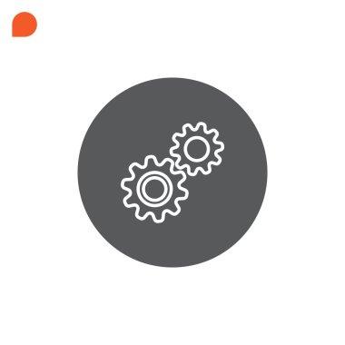 Mechanism, cogs, gear icon
