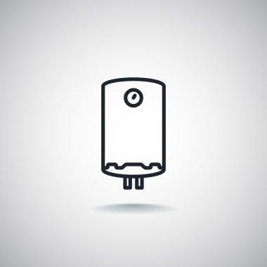 Water heater icon. vector illustration clip art vector