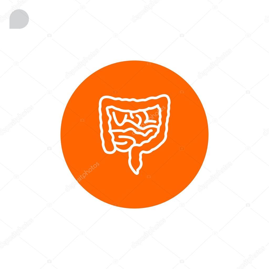 icono de los intestinos humanos — Vector de stock © Mr.Webicon ...