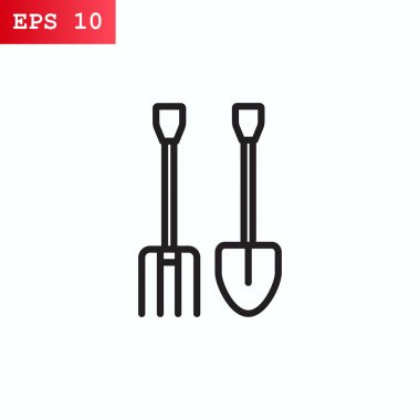 Pitchfork and shovel icon