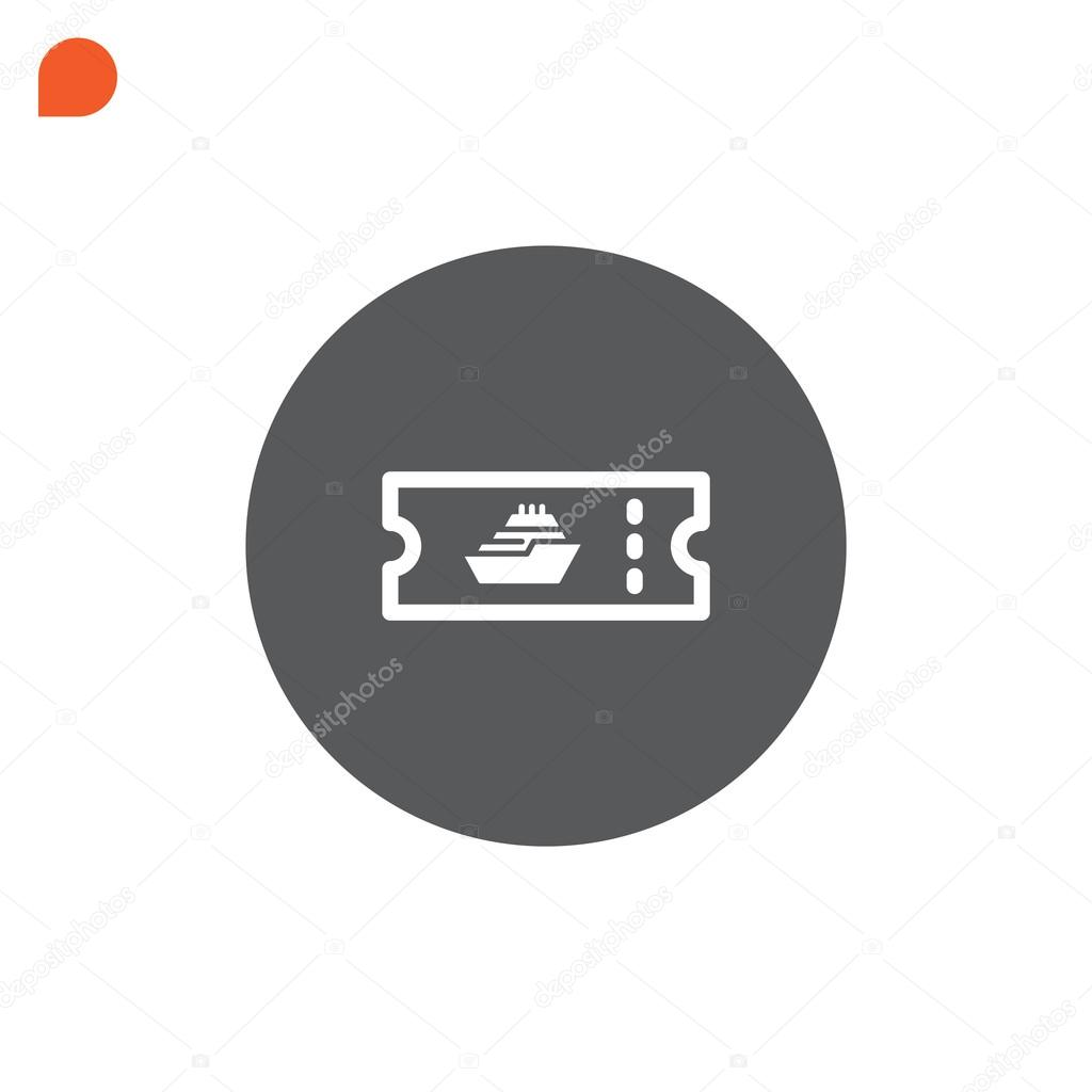 Cruise Ship Ticket Icon Stock Vector MrWebicon - How much is a cruise ship ticket