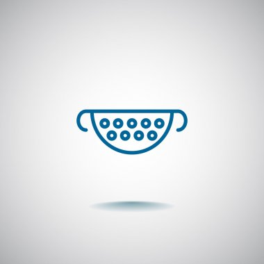 Kitchen Colander Icon.