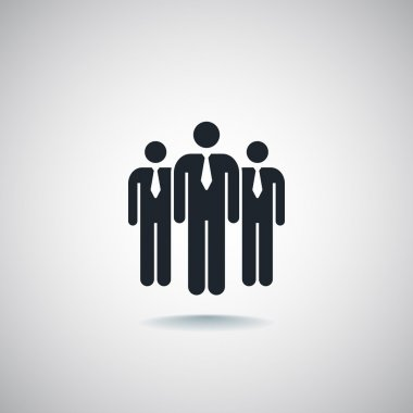Group of business people icon