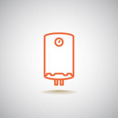 Household water heater icon. vector illustration clip art vector