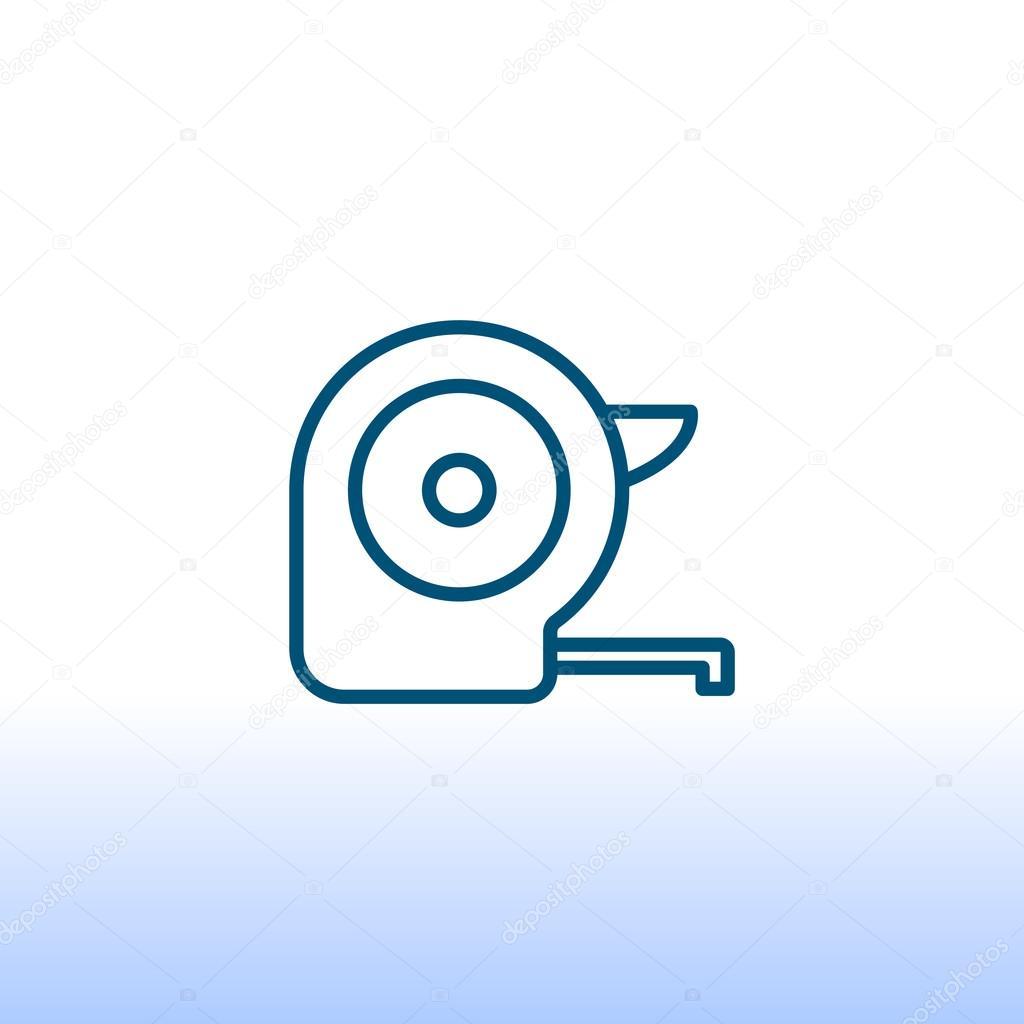 Tape measure tool icon