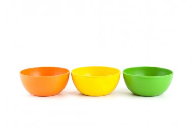 Colored bamboo bowl.