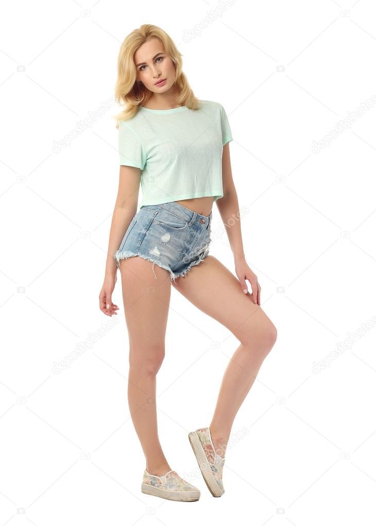 Short Shorts Blonde