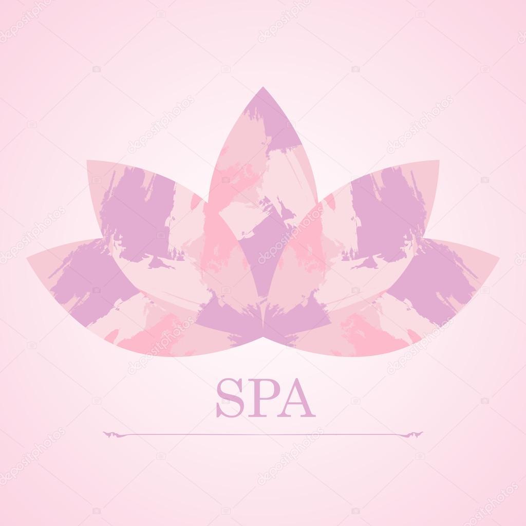 Pink lotus flower spa figured hand drawn brush strokes stock pink lotus flower spa figured hand drawn brush strokes stock vector izmirmasajfo