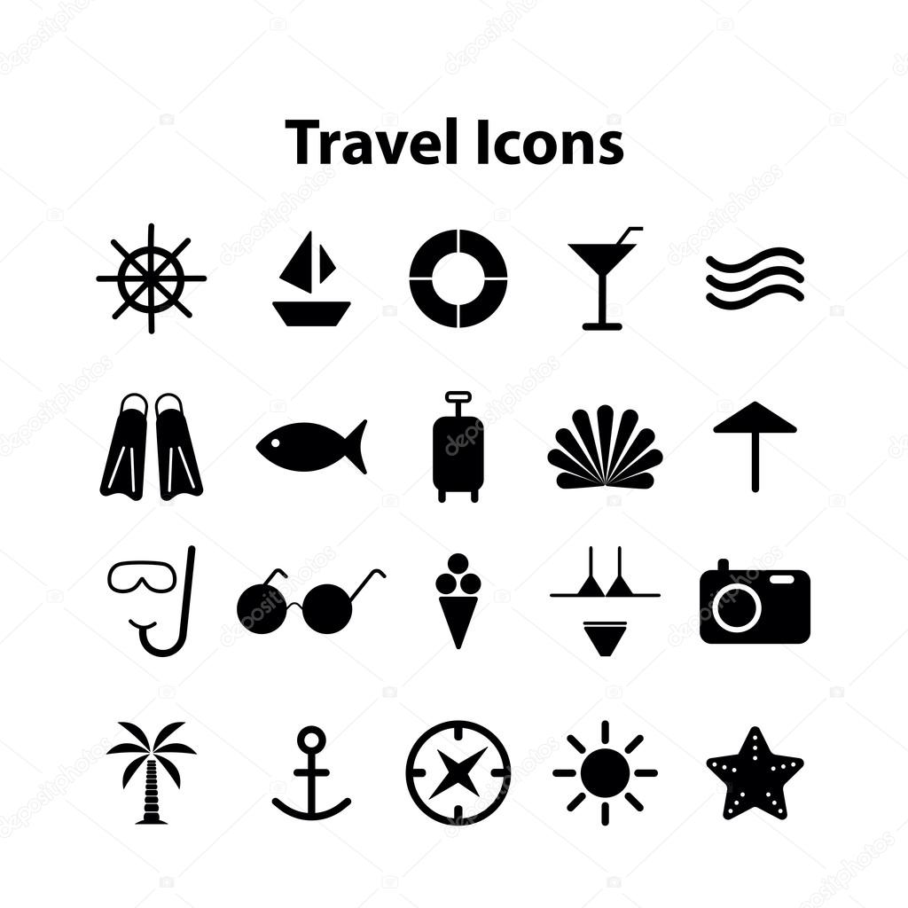 Wed icons vector collection of traveling — Stock Vector © AlonaS1984 ...