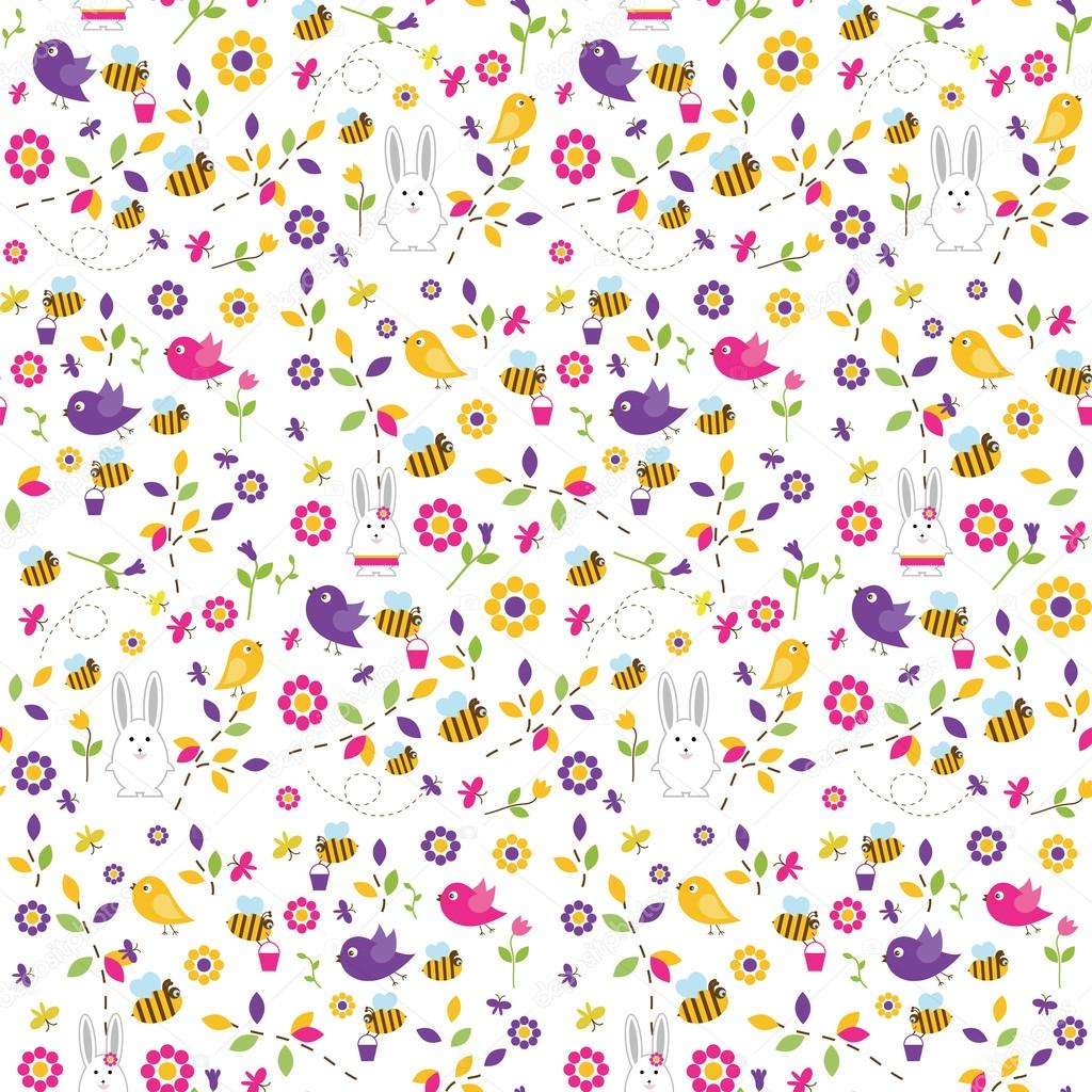 Bright Easter seamless pattern.