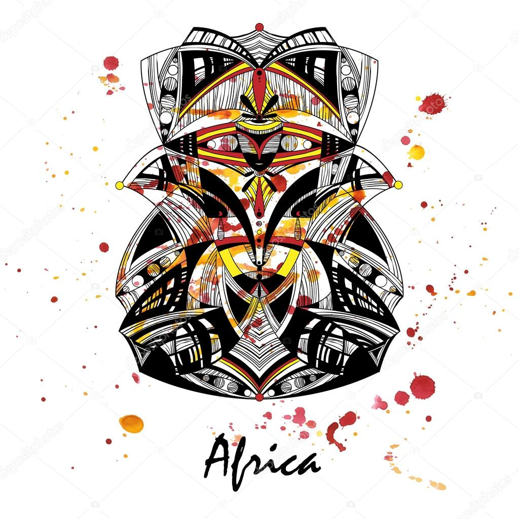 masque africain vector