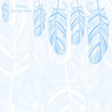 Gentle abstract background with feathers