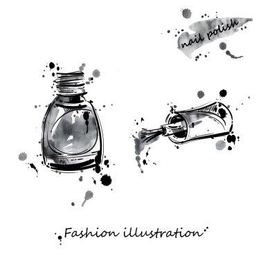 Illustration of nail polish.