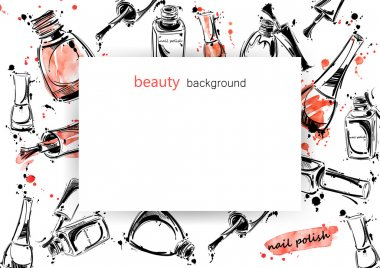 Vector background with nail polish.