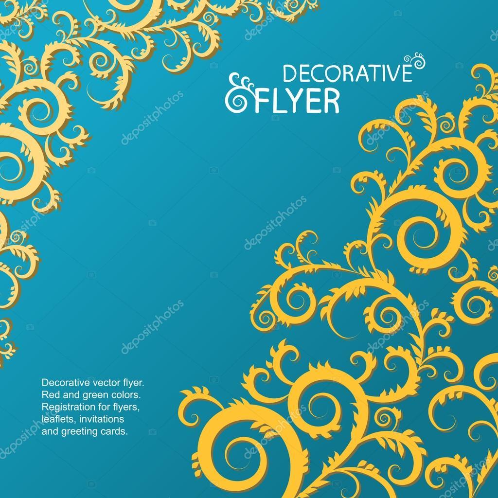 flyer background blue ストックベクター lookdesign318 gmail com