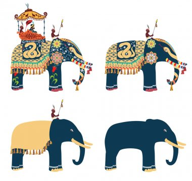 India. Decorated elephant.
