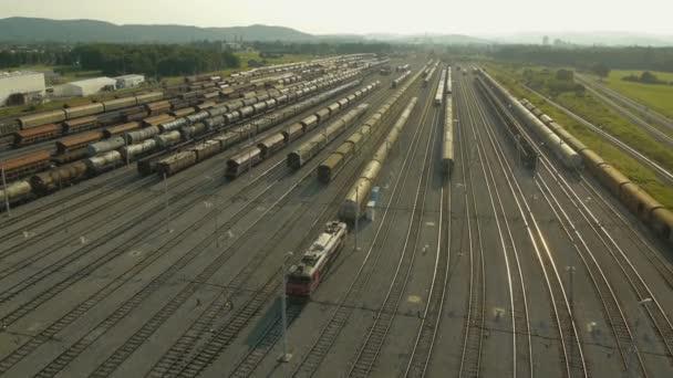 Luftaufnahme des Güterzugdepots