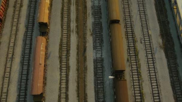 Luftaufnahme des Güterzugdepots schließen