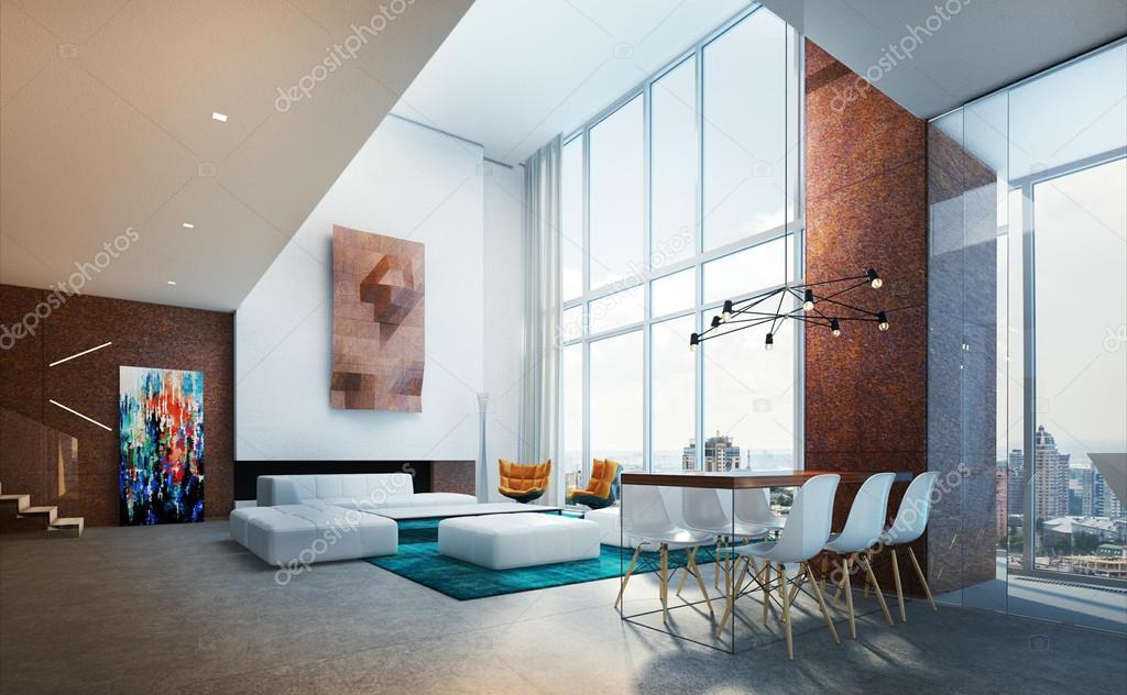 Interieur woonkamer appartementen in de stijl van het minimalisme ...