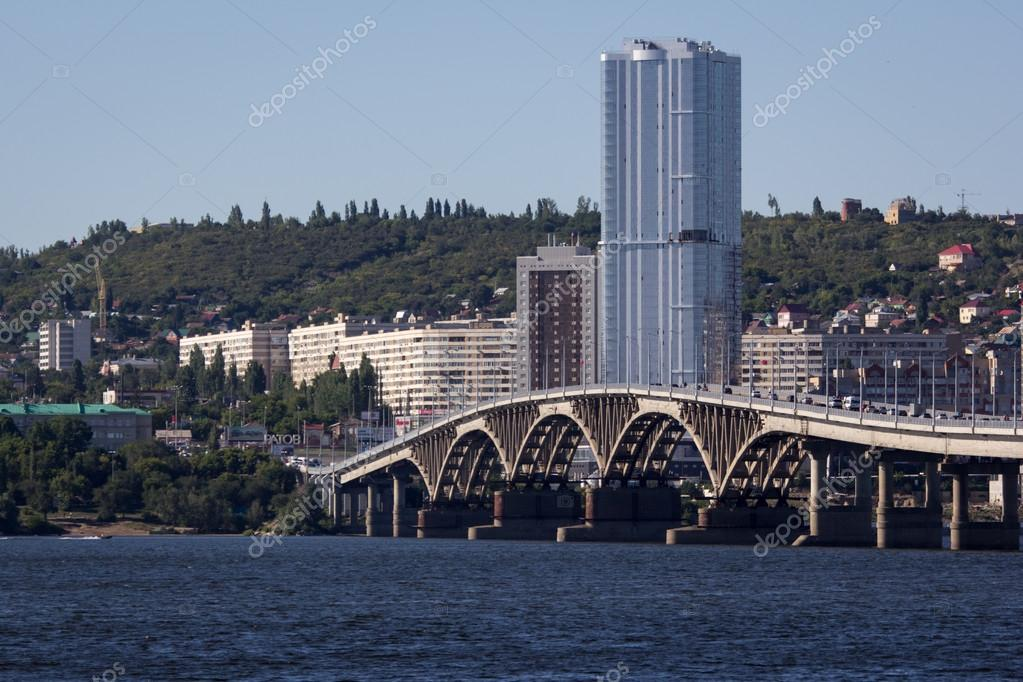 the bridge Saratov Engels The Volga River