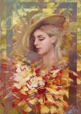 "Картина, постер, плакат, фотообои ""красивая женщина ручной работы фото арт"", артикул 102383476"