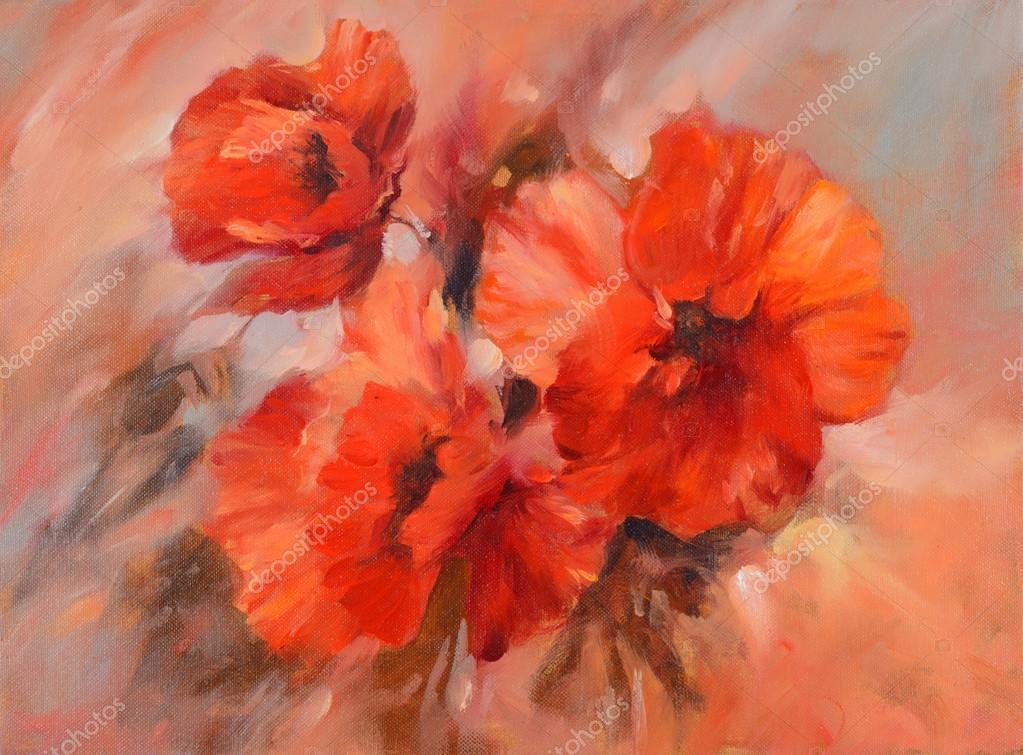 poppies handmade painting