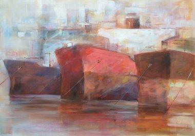 """Картина, постер, плакат, фотообои """"танкерные корабли, современные картины ручной работы абстракция все"""", артикул 105947358"""
