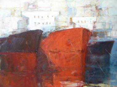 """Картина, постер, плакат, фотообои """"танкерные корабли, современные картины ручной работы картина пейзаж художники все"""", артикул 105948140"""