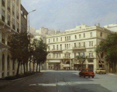 "Картина, постер, плакат, фотообои ""улицы афин, греция, картины ручной работы абстракция"", артикул 105965580"
