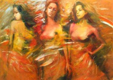 """Картина, постер, плакат, фотообои """"женская живопись ручной работы портрет фото заказ"""", артикул 106637080"""