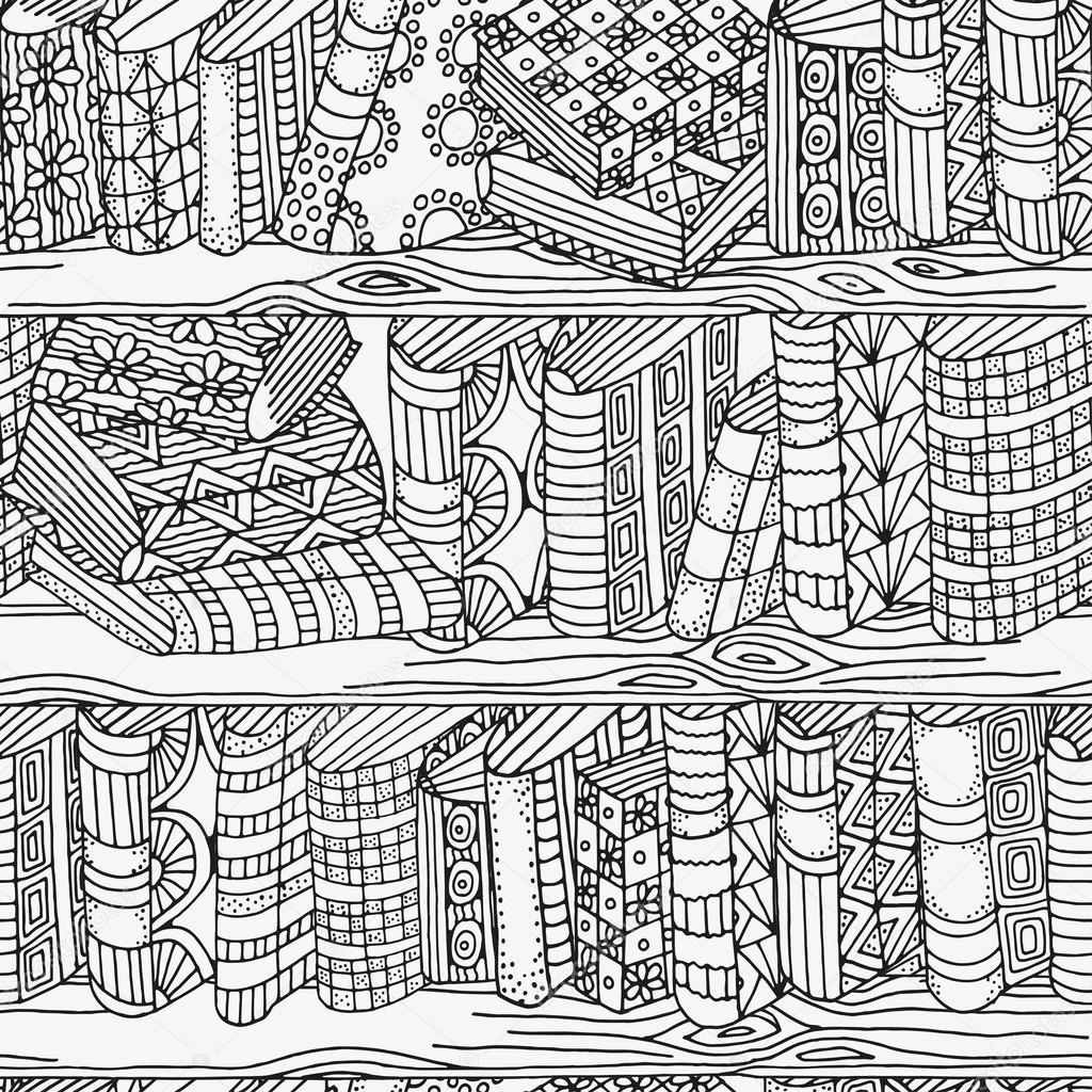Modelo para libro de colorear. Patrón blanco y negro — Archivo ...