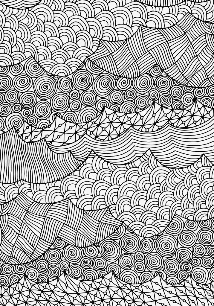 Waves, sea, beautiful art background.