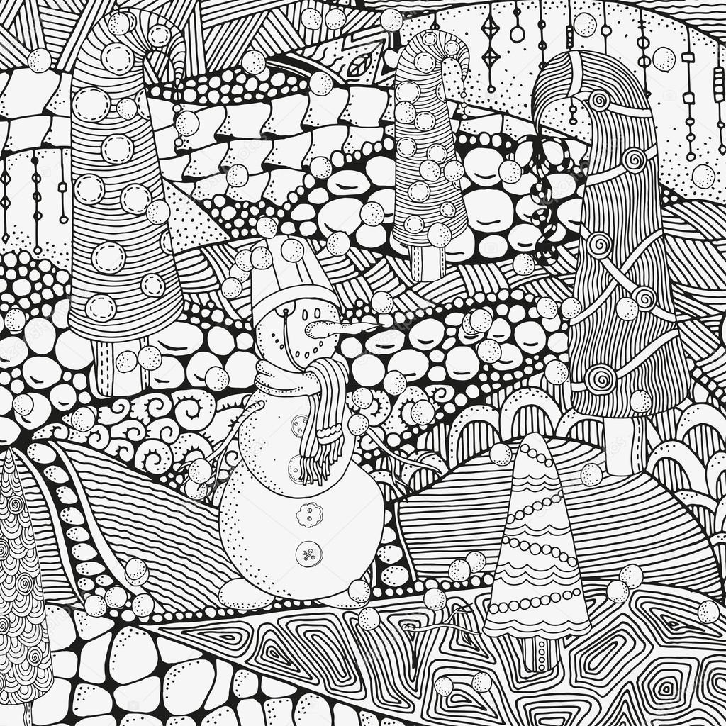 メリー クリスマス塗り絵の手際よく冬クリスマス民族パターン