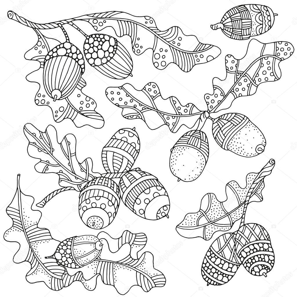 листья раскраска шаблон для раскраски книга с художественно