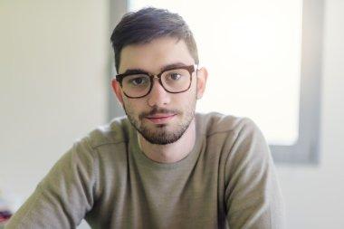 Portrait of college student