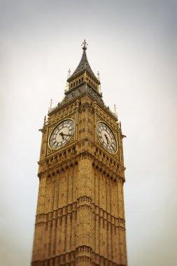 The Big Ben, London. Tlti shift effect stock vector