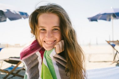 Smiling teen girl