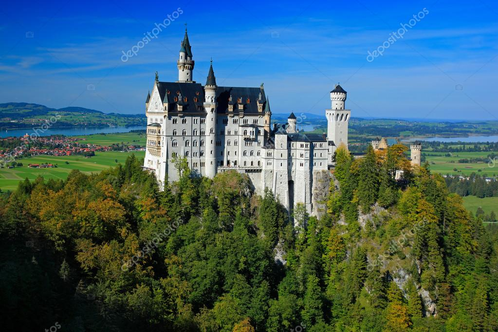 Famous Neuschwanstein Castle in Bavaria