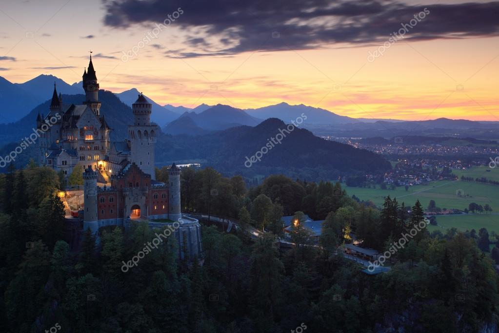 Beautiful Neuschwanstein castle