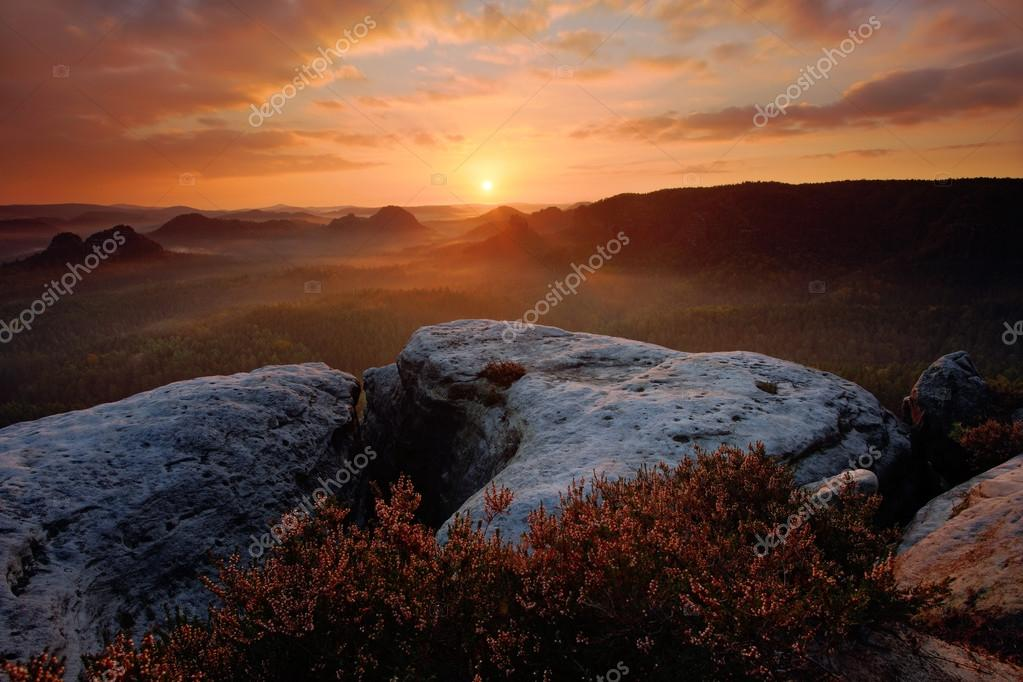 Kleiner Winterberg, beautiful morning view