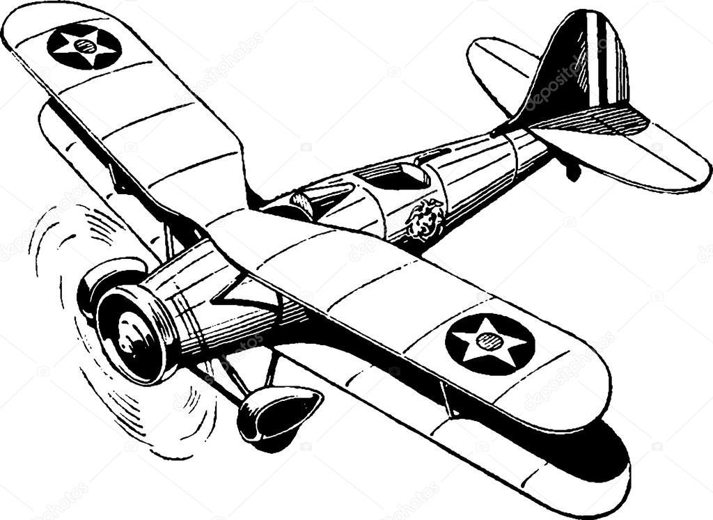 Vintage Drawing Airplane Stock Photo C Unorobusgmail 111942460